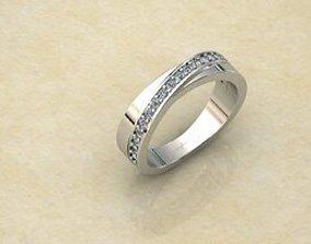 Round diamond ring 3D print model rings