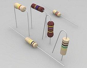 3D model resistors