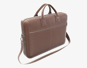 3D Leather laptop briefcase shoulder bag travel handbag 01