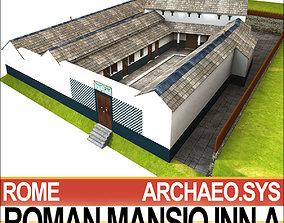 3D model roof Roman Mansio Inn A