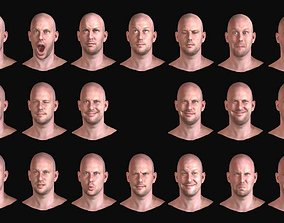 20 Realistic Male Expressions 3D model