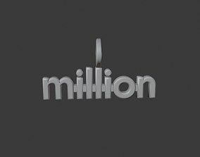 3D print model million pendant