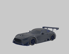 Racing Car 3D model rigged