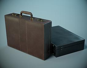 Leather Briefcase PBR 3D asset