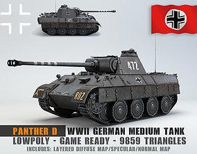 Low Poly Panzer V Panther D medium 3D asset
