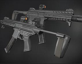 MPX 9mm 3D asset realtime