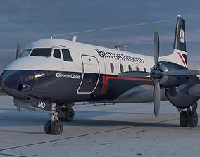 Hawker Siddeley 748 British Airways PBR 3D model