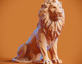Low poly Lion Papercraft 3D printable model