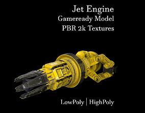 Jet Engine 3D model game-ready