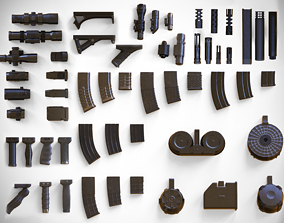 3D model Weapon Customization Pack - 57 Attachments - 2