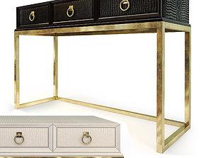 3D Console Cosmopolitan Ebony Parchment ART Furniture