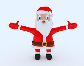Santa Claus 3D Model coat