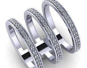 3D print model 3 row ring 107
