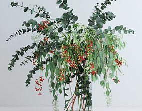 3D model Pepperberries and Eucalyptuses