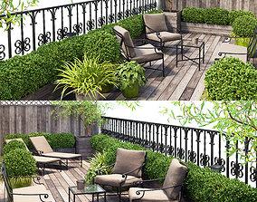3D Terrace balcony penthouse