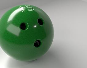 3D model Bowling Ball 15 P