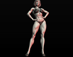 3D print model Girl Bodybuilder