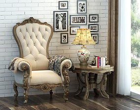 3D Classic chair lounge-chair