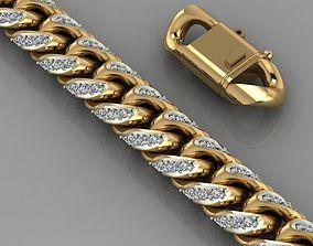 chain gem bracelet 3D print model