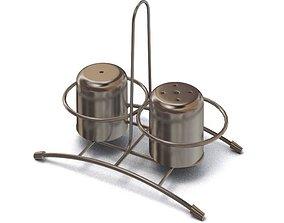 3D Bronze Salt Pepper Shakers