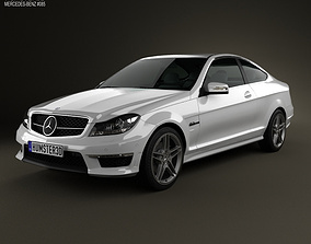 Mercedes-Benz C-Class 63 AMG coupe 2012 3D model