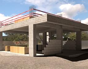 house 3D model CONSTRUCTION SITE