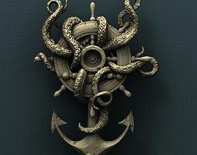 Octopus Anchor 3d stl model for CNC