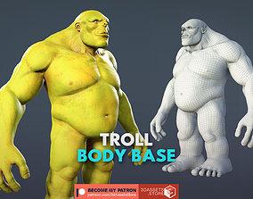 3D asset Character - Troll Body Base