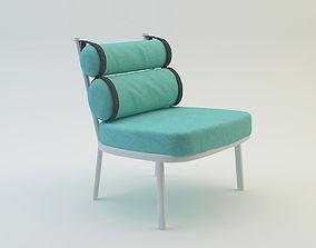 garden chair 3D model lawnchair