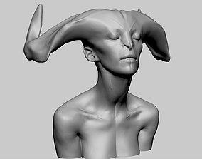 3D Female Creature Head v5