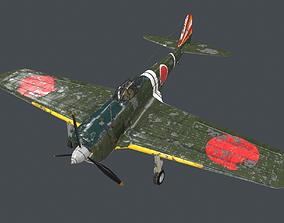 ki43 fighter of Japanese Army in World War II 3D model