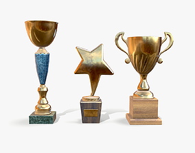 Trophy Cups lowpoly 3D model
