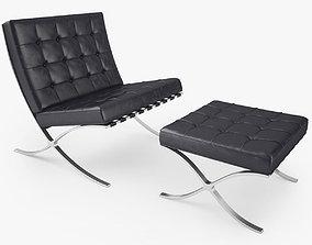 Knoll Barcelona Chair 3D