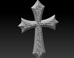3D model cross bas-relief