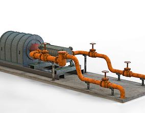 3D model Industrial pumping equipment