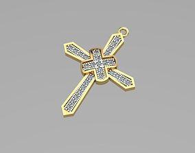 ring 3D print model Cross