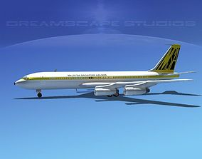 3D model Boeing 707 Malaysia-Singapore Airlines