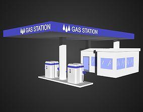 Gas Station 3D asset realtime