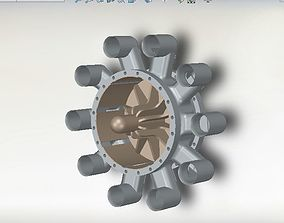 3D model Centrifugal Compressor - Compresseur centrifuge