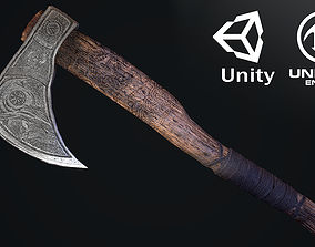 Norse Axe Game Ready Low-poly 3D model VR / AR ready