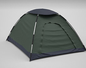 camping tent 3d model game-ready