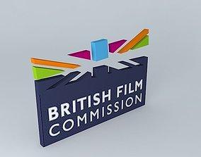 British Film Commission Logo 3D model