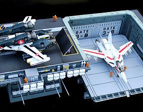 3D printable model Set3 - Macross SDF1 Prometheus Hanger 2