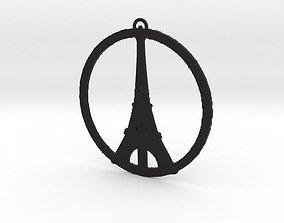 3D printable model Paris Peace Pendant