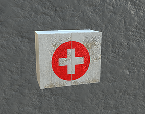 hospital 3D model game-ready First aid kit