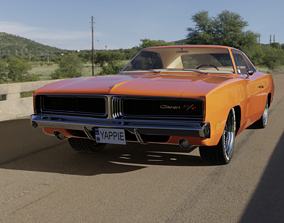 3D asset 1969 Dodge Charger RT