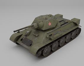 T34-76 1942 Medium Tank 3D model