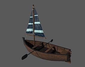 Wooden Boat 3D asset