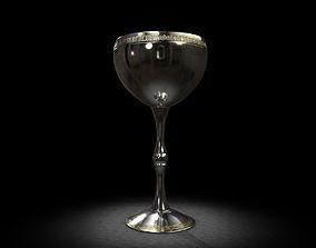 3D Silver Celtic Goblet