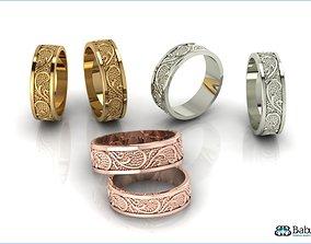 3D print model rings engagement